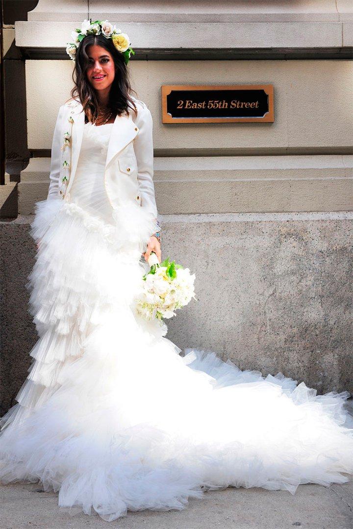 vestido novia chaqueta cuero - vestidos de 2019