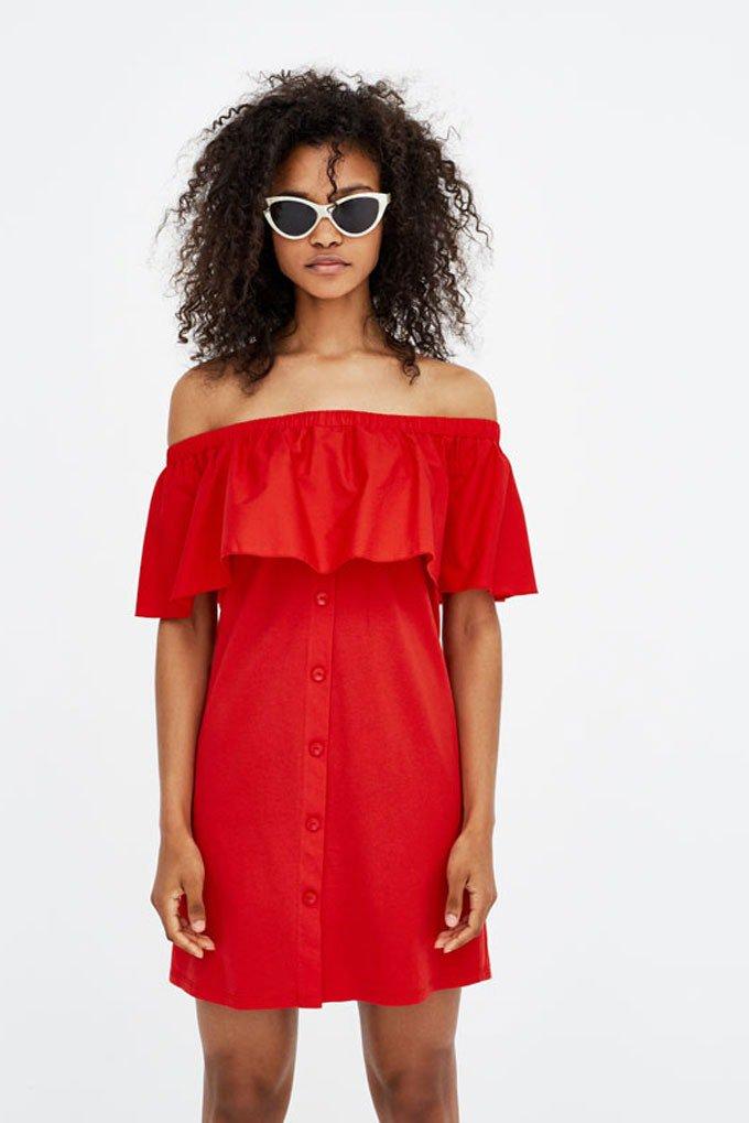Vestido rojo de Pull & Bear