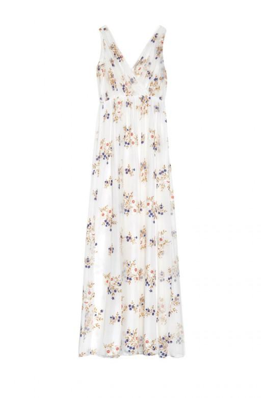 Vestido estampado floral de Nina Ricci