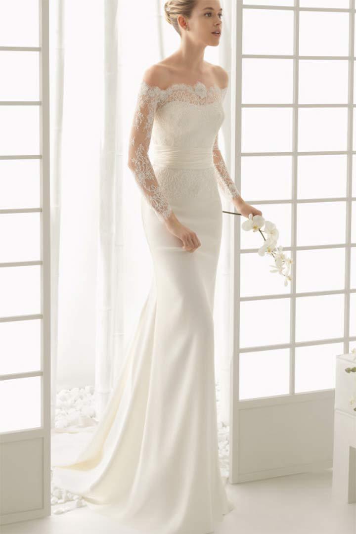 Vestidos de novia encaje arriba