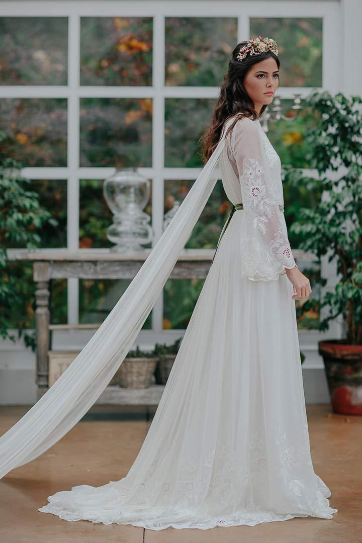 Vestidos boda media manga