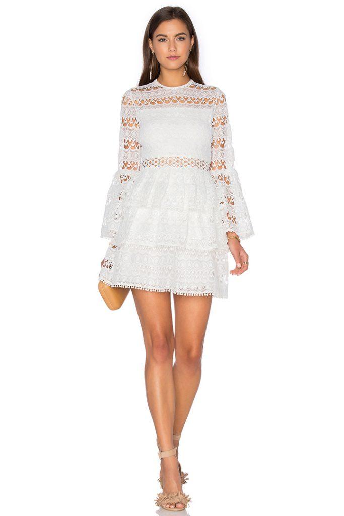 Vestido de novia corto de Revolve Clothing