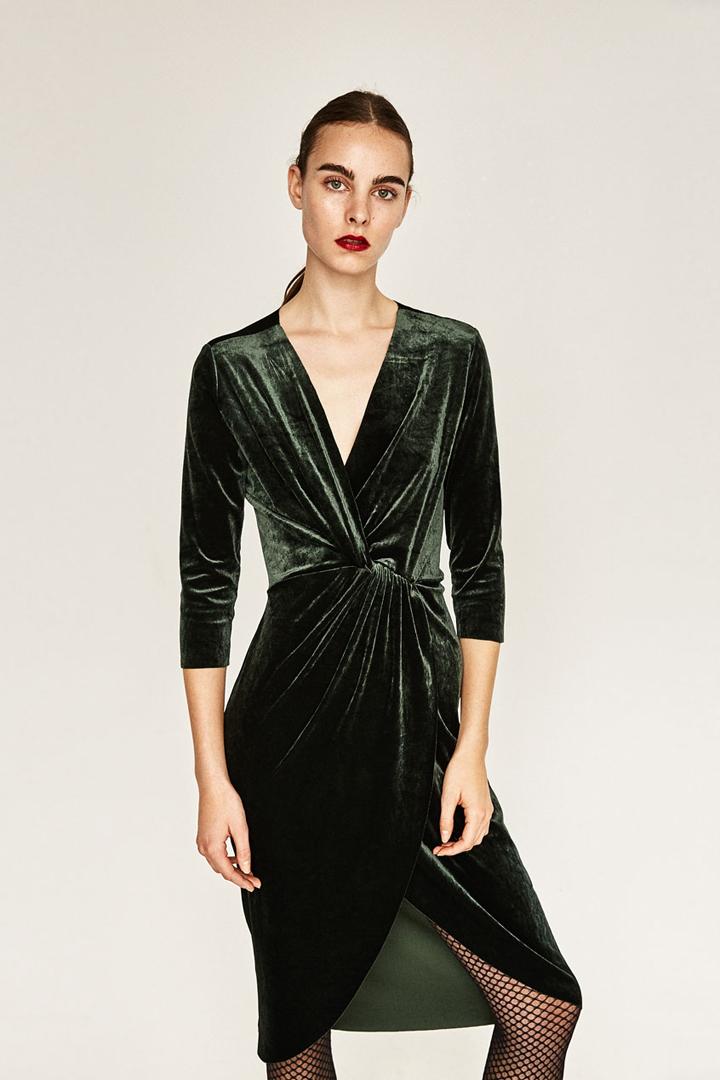 54bb2693ab vestidos terciopelo verde