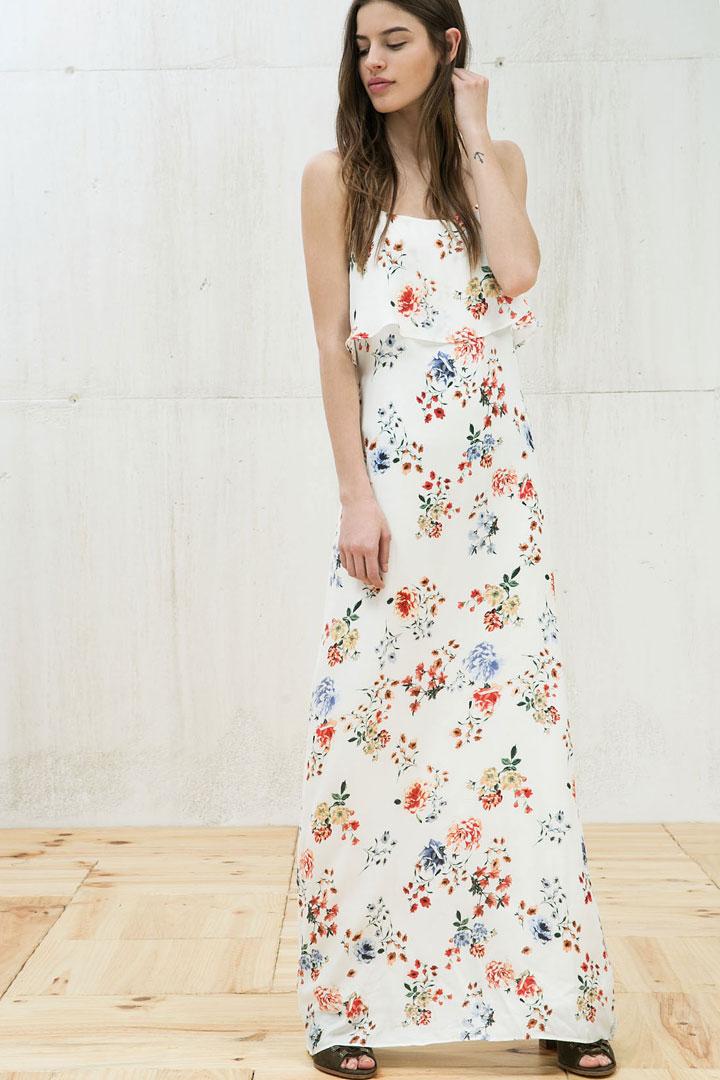 Vestido lencero flores