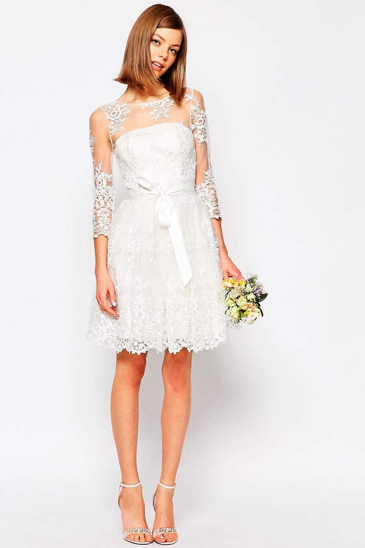 Vestidos novia informales cortos
