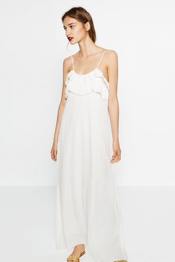 Vestido blanco vaporoso