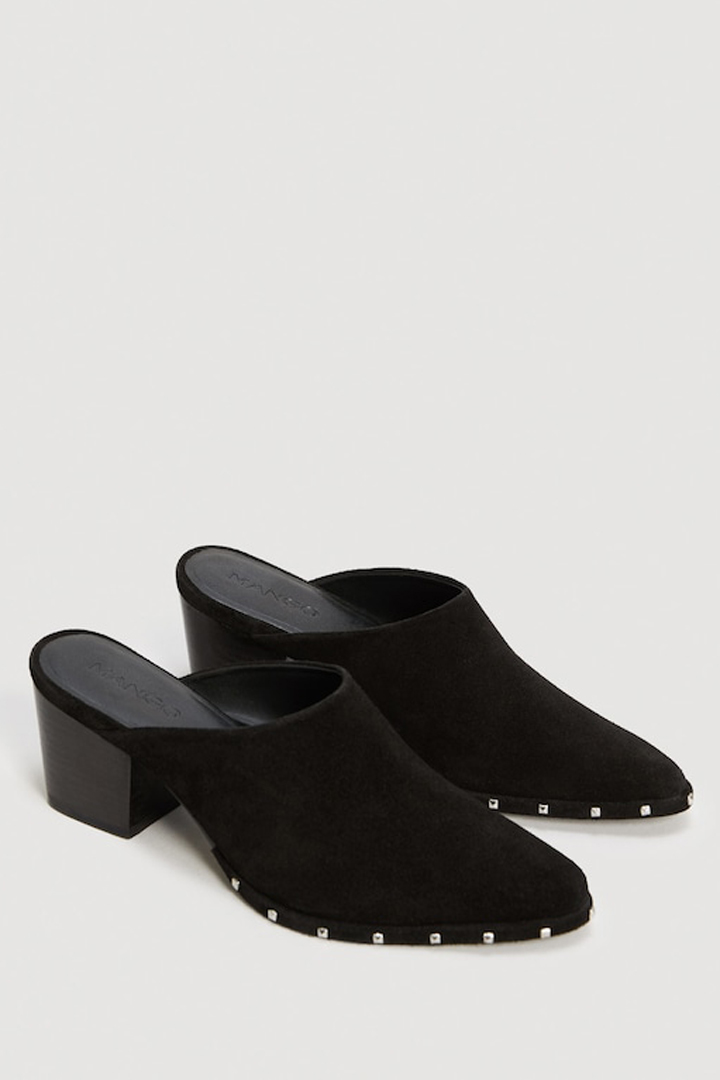 zapato piel tachuelas mango ropa