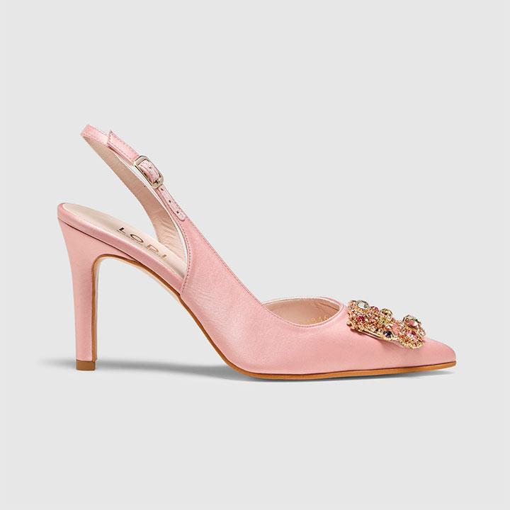 Zapatos de invitada de estilo joya en color rosa
