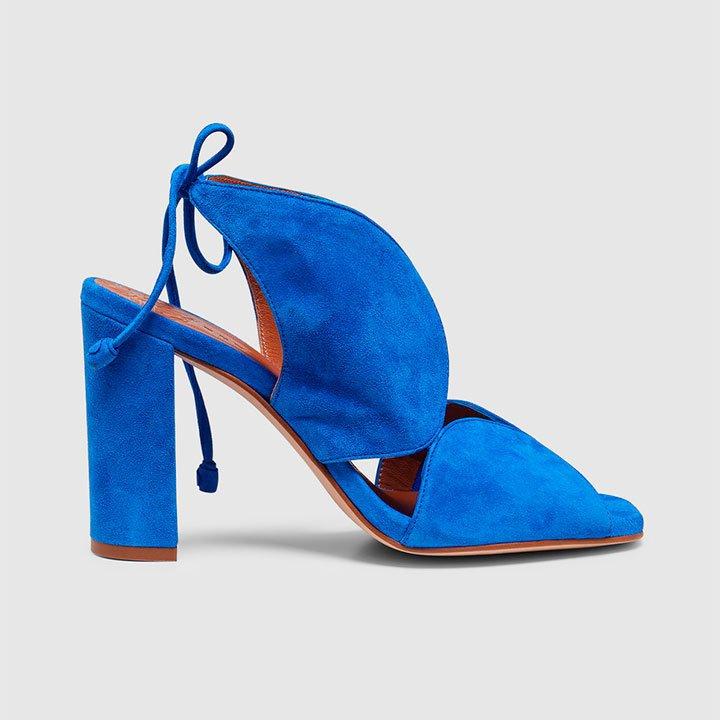 Zapatos de invitada azul klein
