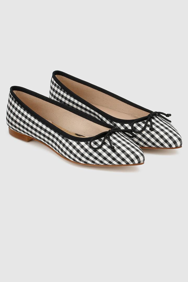 zapatos planos de cuadros vichy