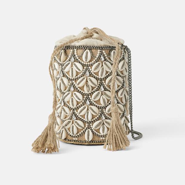 Bolso con conchas de Zara Primavera 2019