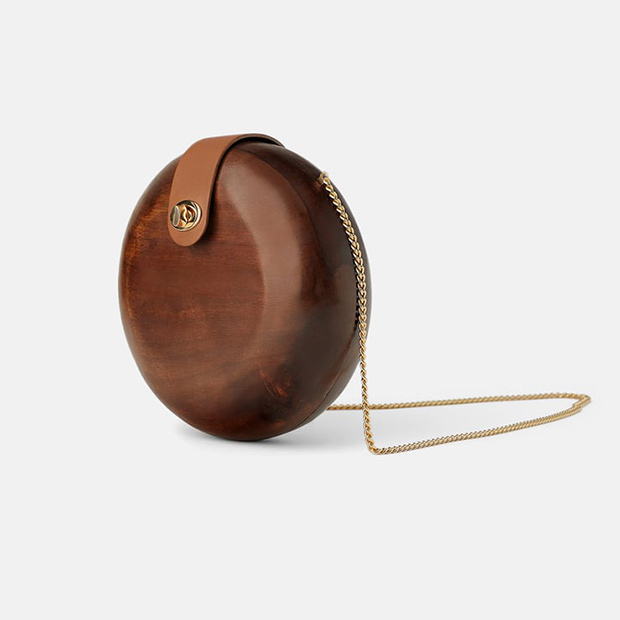 Bolso redondo de Zara Primavera 2019