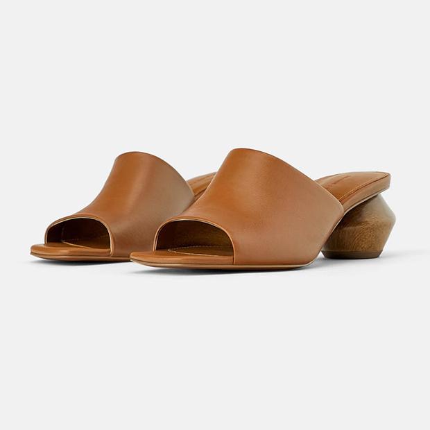Sandalia de piel de Zara Primavera 2019