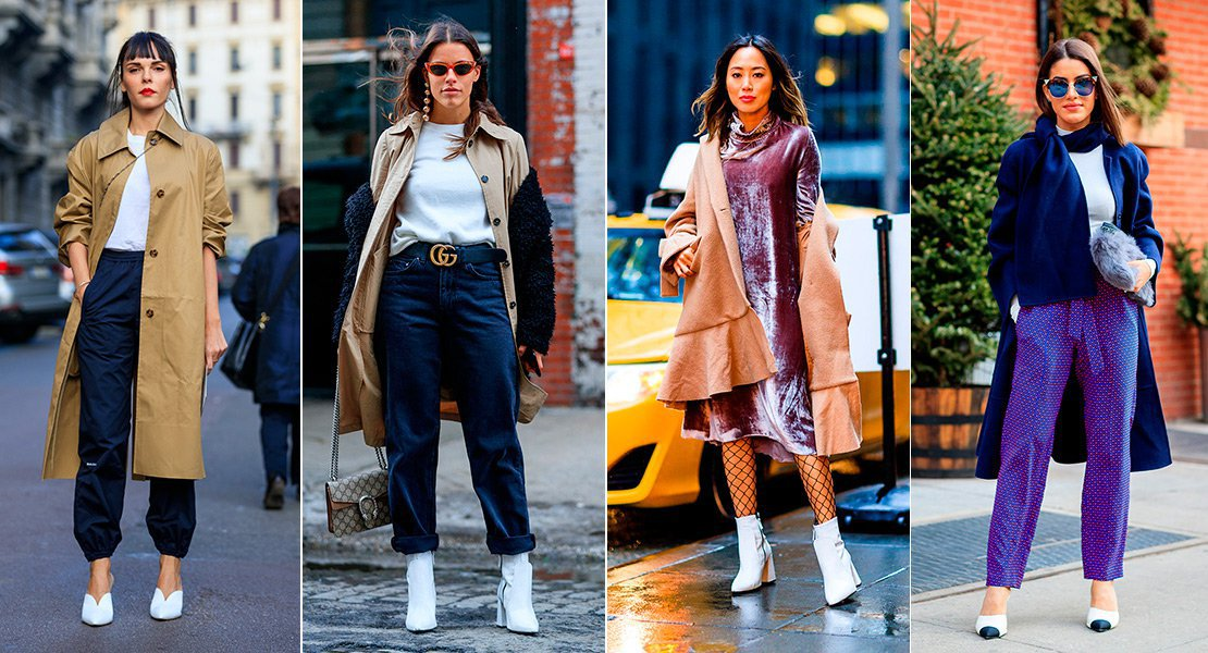 Zapatos blancos street style