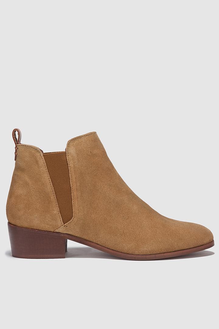 zapatos cómodos botines de serraje de el corte inglés, fórmula joven
