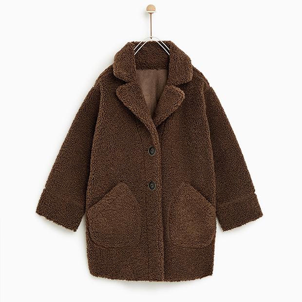 Abrigo reversible de manga larga de Zara Kids