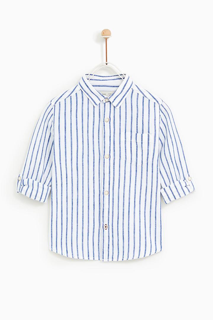 camisa de rayas de Zara Kids Primavera 2018