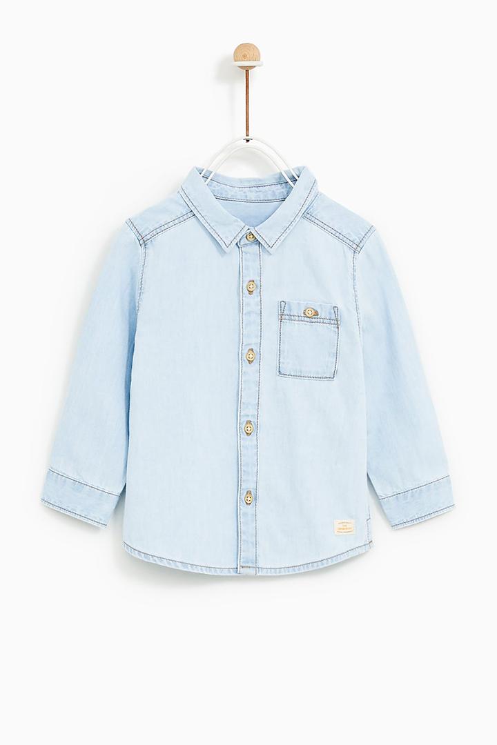 camisa denim de Zara Kids Primavera 2018