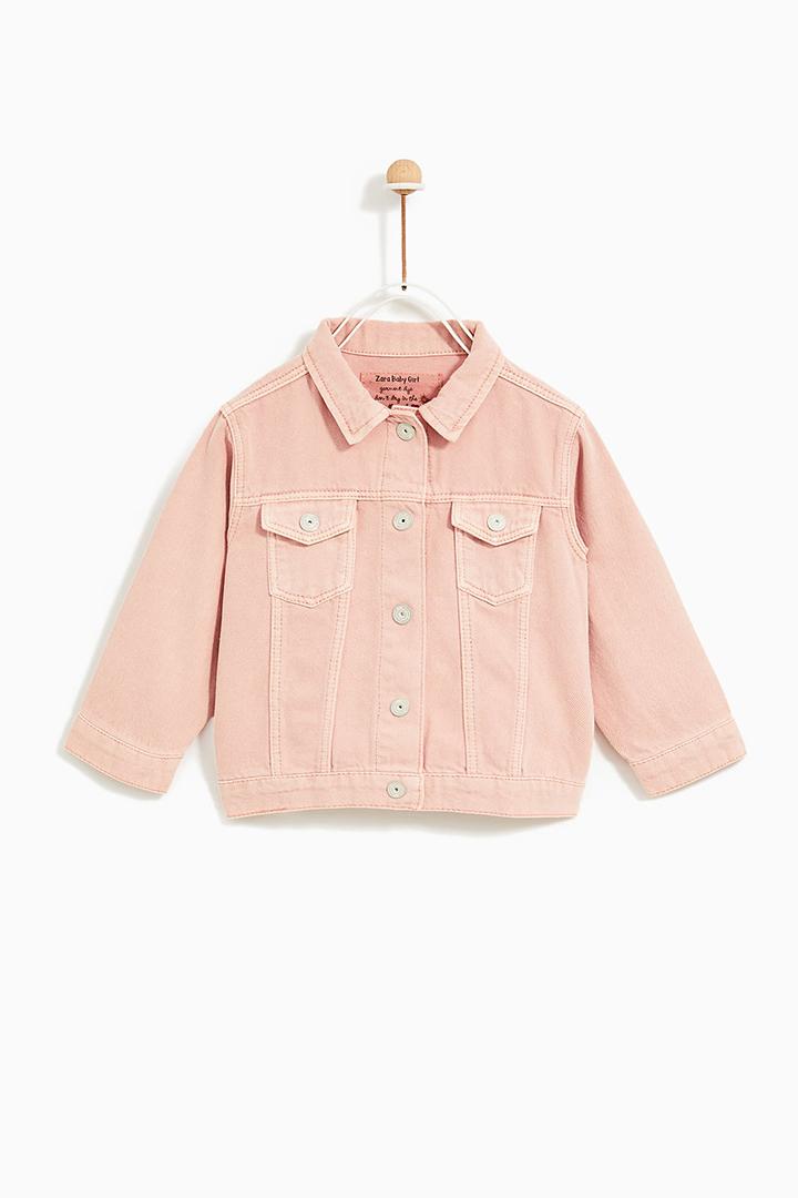 cazadora rosa de Zara Kids Primavera 2018