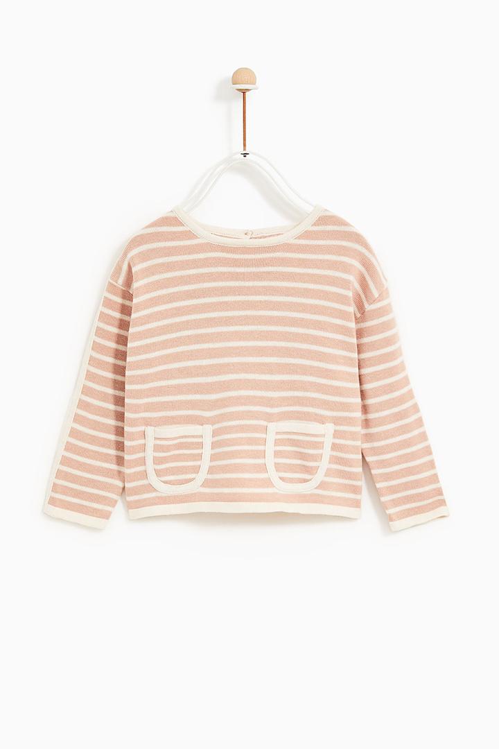 jersey rosa de rayas de Zara Kids Primavera 2018