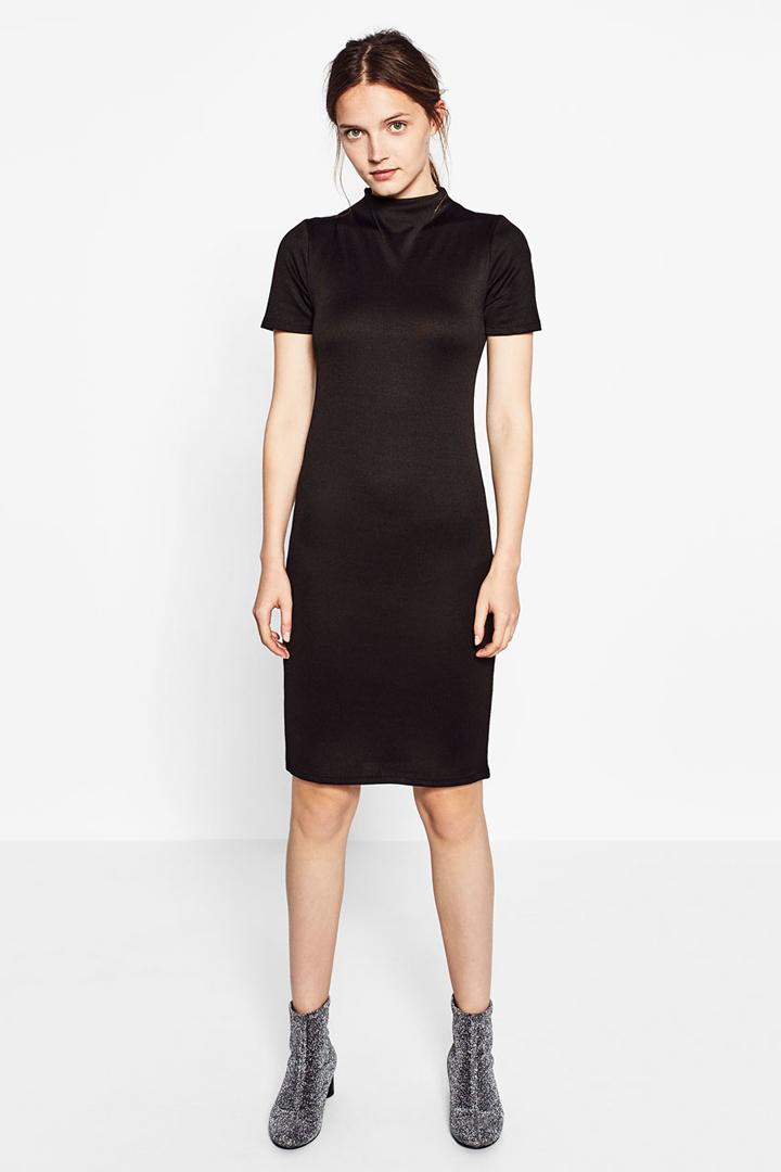 little black dress midi de zara otoño invierno