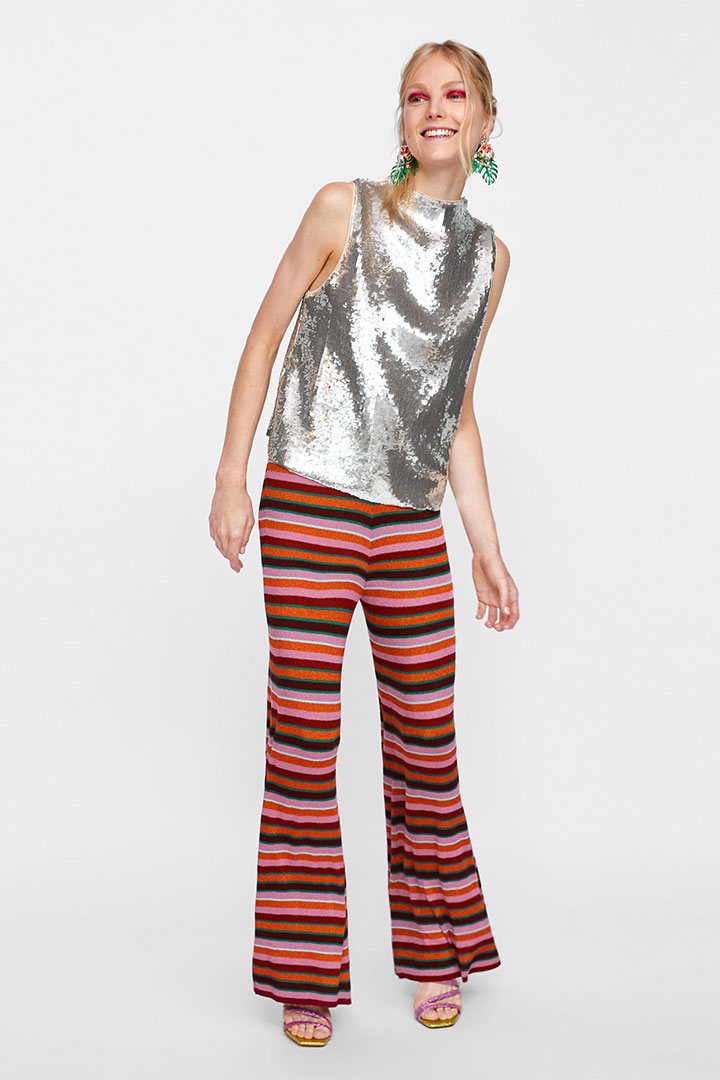 Pantalones de rayas de Zara Otoño Invierno 2018