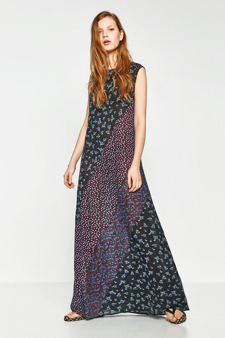 Vestidos largos de flores de zara