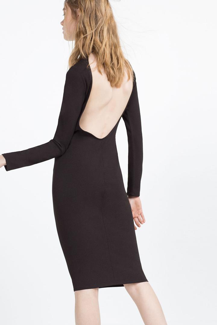 Vestido negro zara rebajas