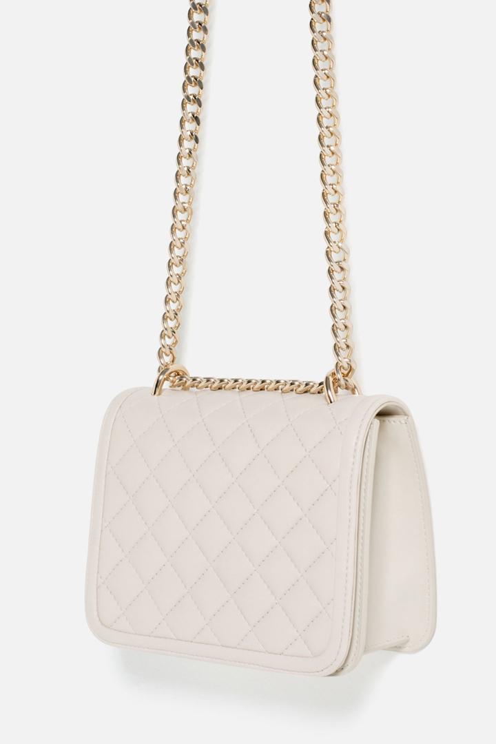 Bolso Bandolera Acolchado Zara Online