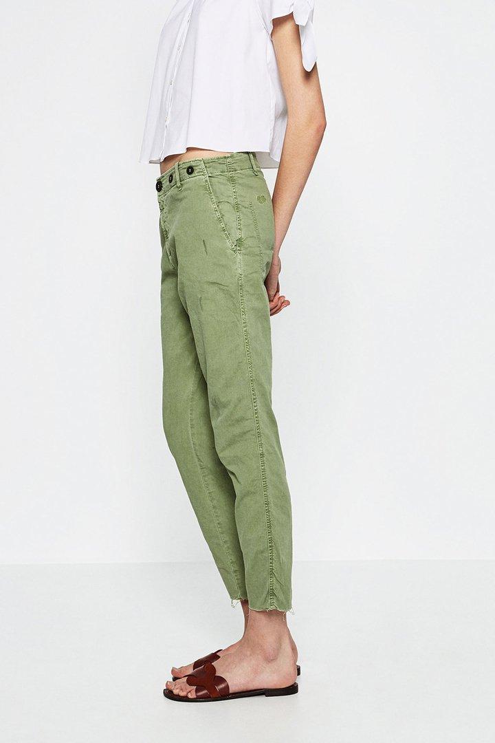 Pantalón chino Khaki Zara Online