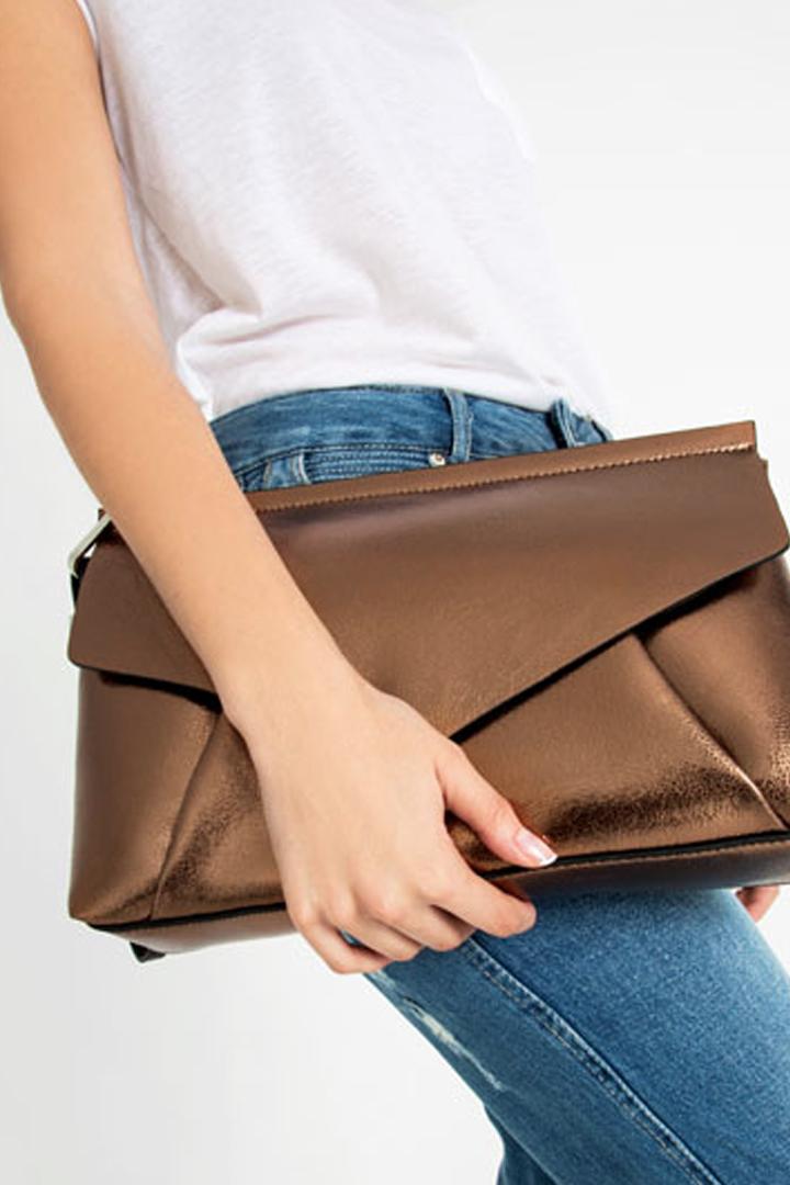Bolso de Mano metalizado Zara Online