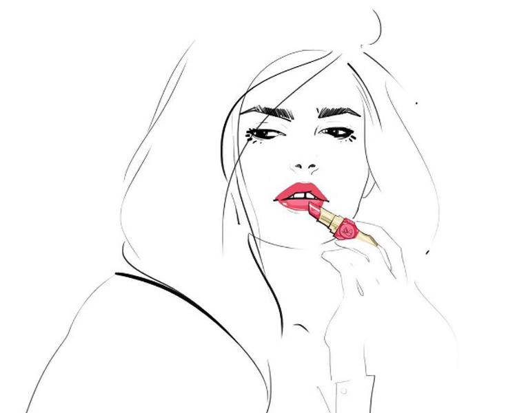 ilustracion-yves_saint_laurent-rouge_volupte_shine