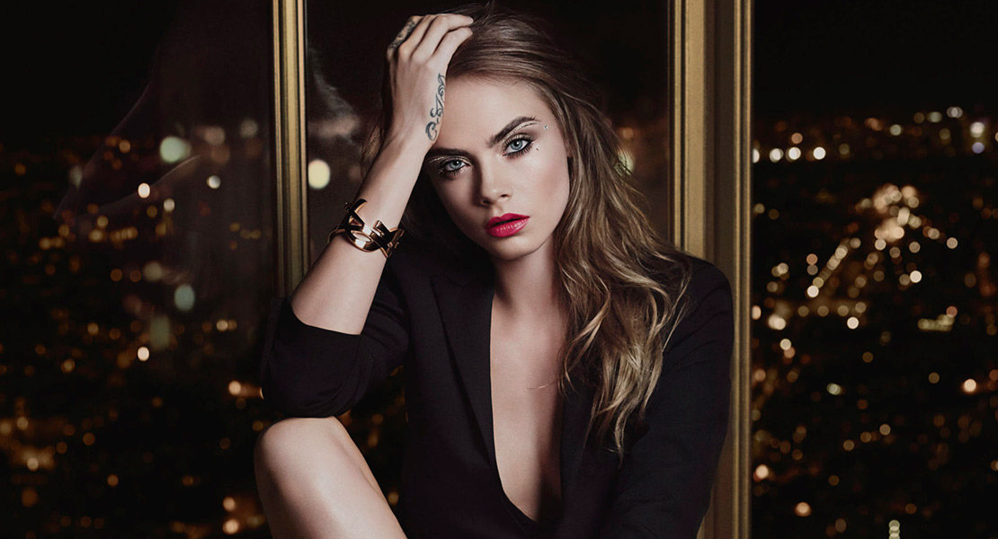Maquillaje Navidad Yves Saint Laurent Cara Delevingne