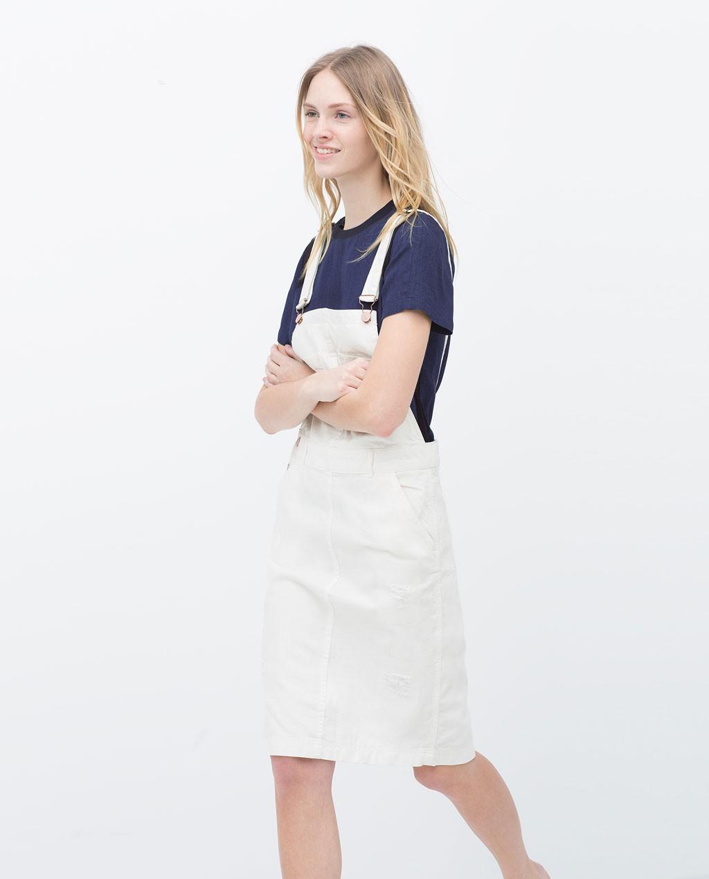 Peto blanco falda zara
