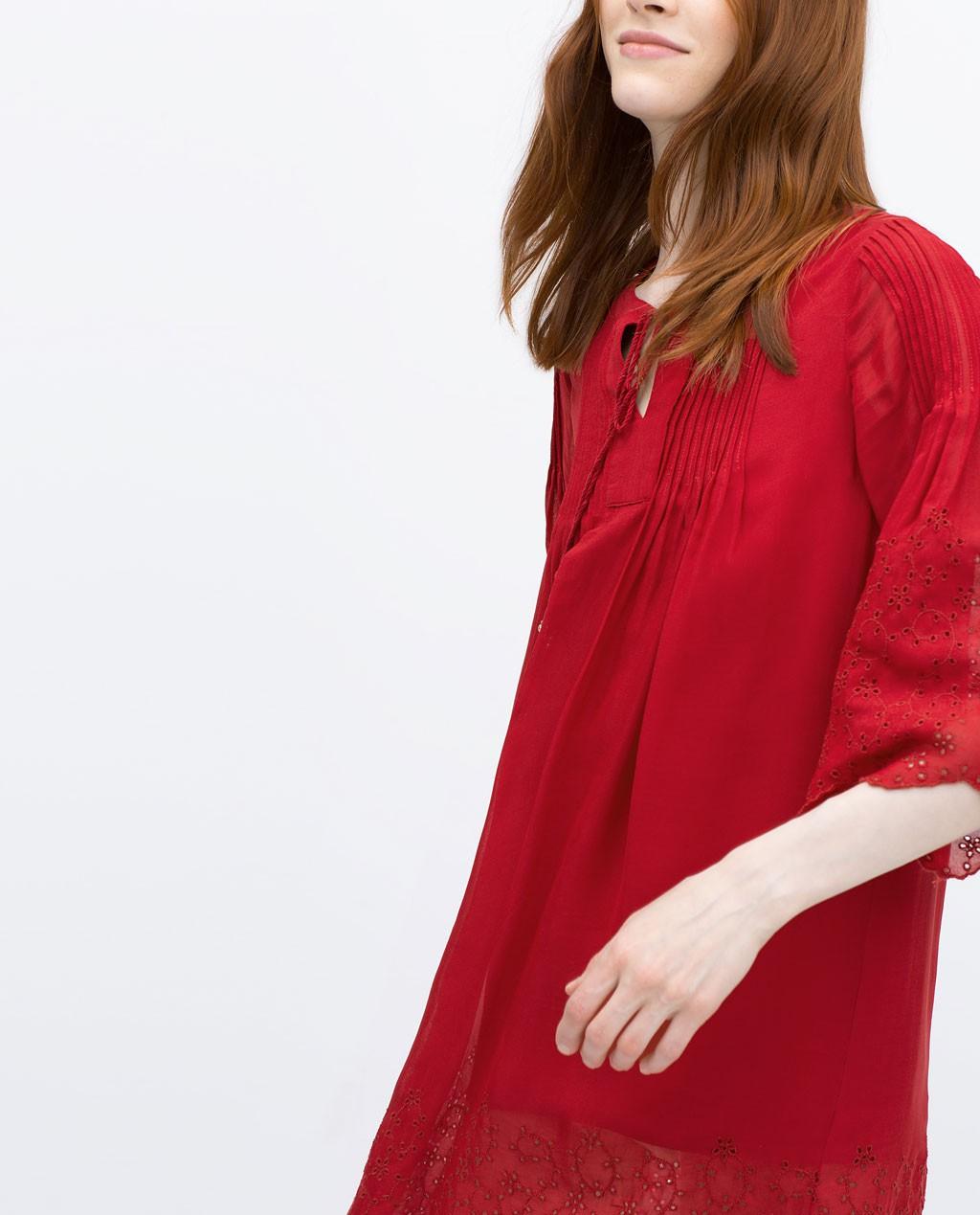 Vestido fantasia rojo de zara