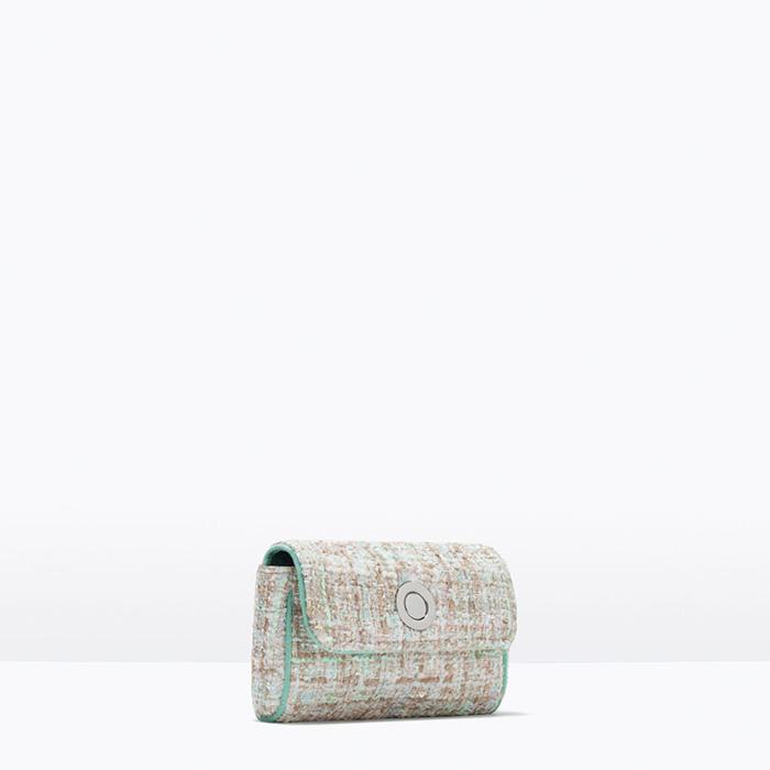 bandolera tweed zara