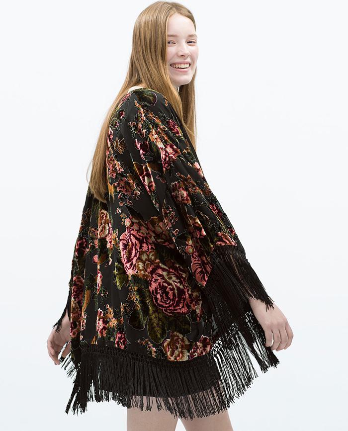 Kimono devoré zara