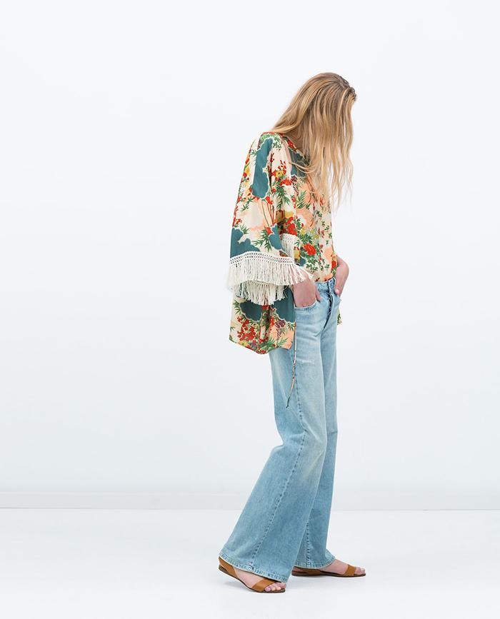 Kimono estampado  zara