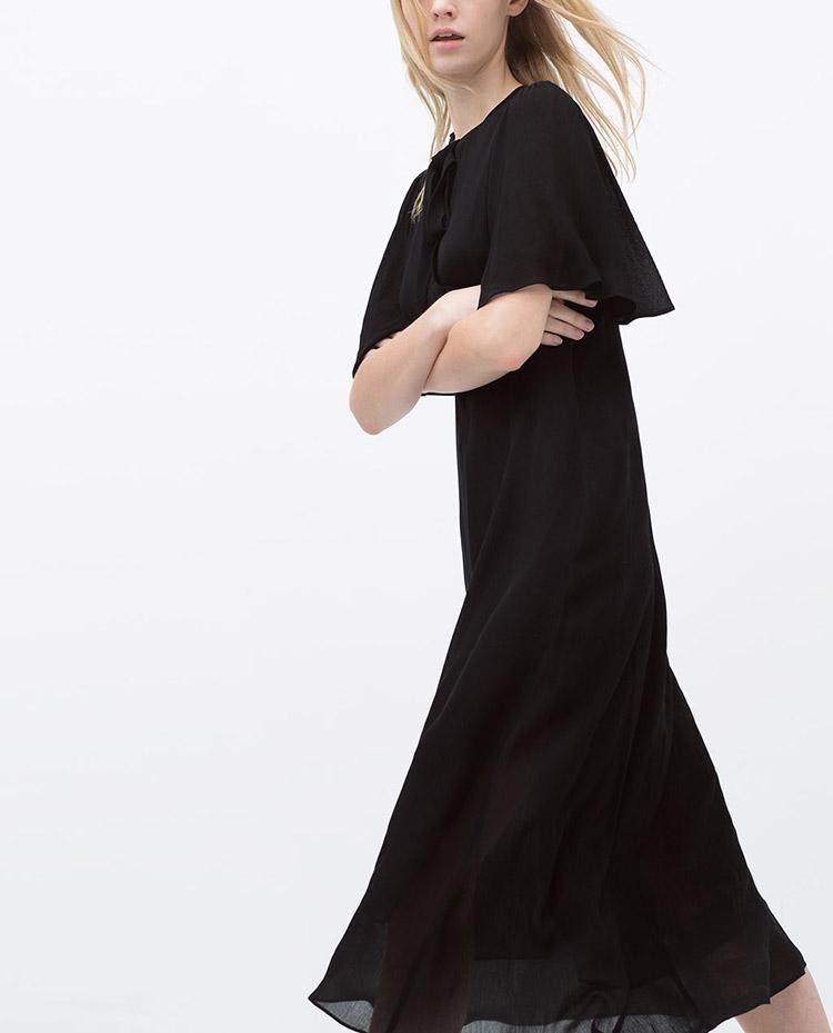 vestido-negro-lazada-rebajas-zara-stylelovely