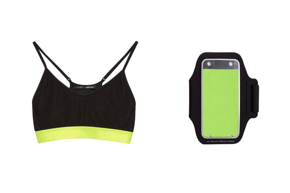 Top y podómetro de la Colección Gymwear, Zara