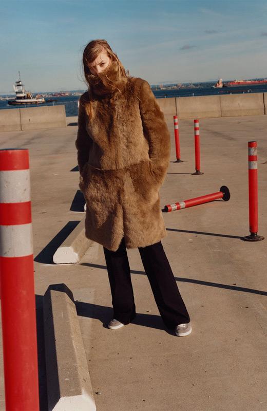 zara coleccion studio abrigo de pelo