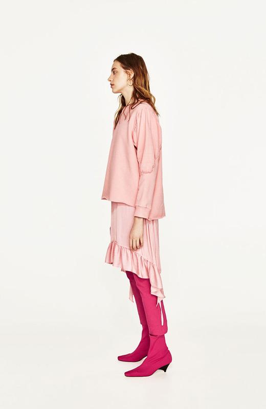 ZARA tendencias rosa