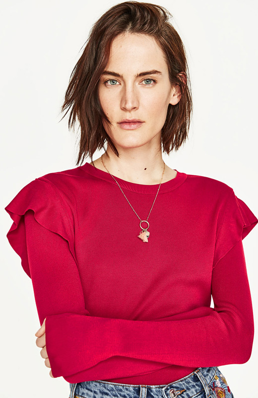 Zara joyas colgantes