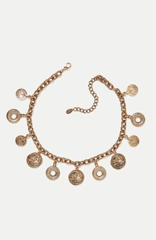 Zara joyas collar monedas