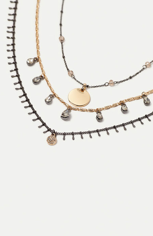 Zara joyas pack colgantes