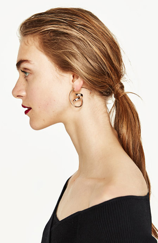 Zara joyas pendientes maxi